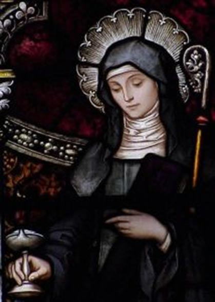 Saint Brigid of Kildare.