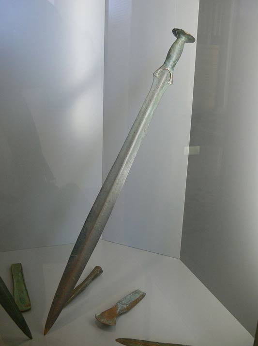 A Bronze Age sword from Upper Austria, found in a river.