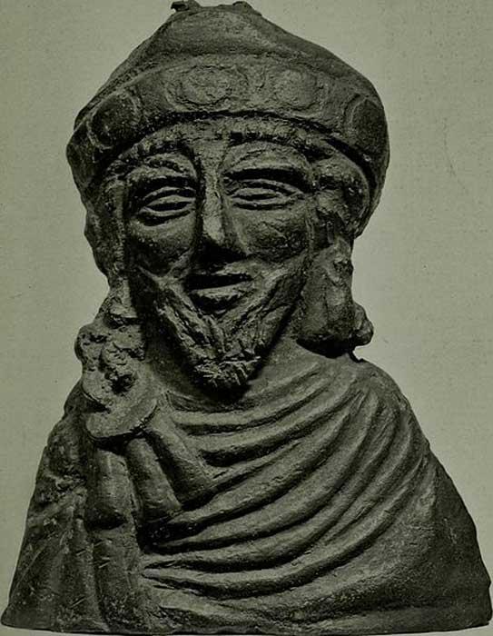 Bronze Steelyard weight, probably representing the Emperor Phocas