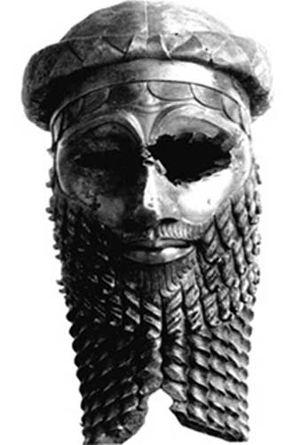 Bronze head of a king, most likely Sargon of Akkad.