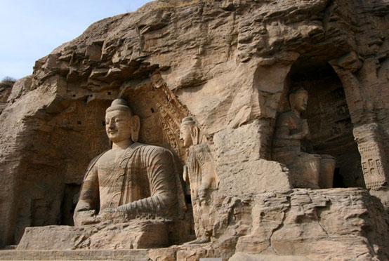Buddhist statues at Yungang Grottoes