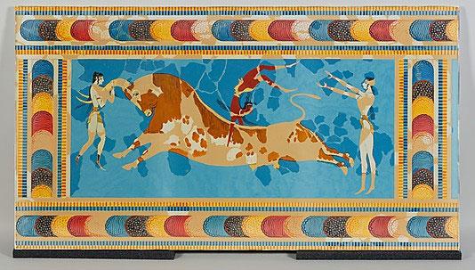 Bull Leapers Fresco