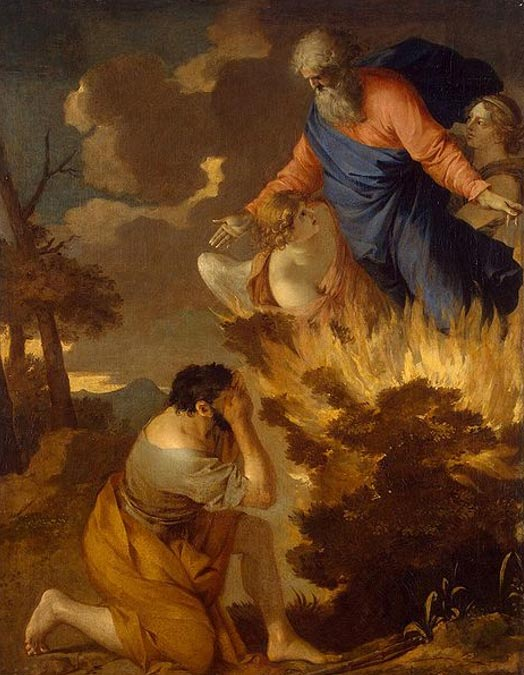 Burning Bush. (17th century) by Sébastien Bourdon.