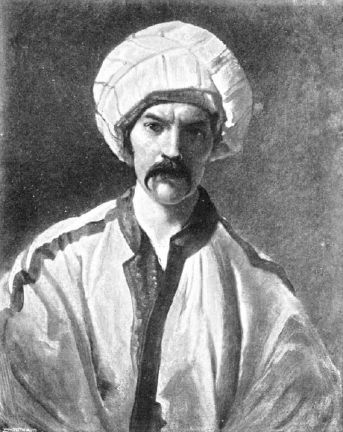 Burton in Persian disguise as 'Mirza Abdullah the Bushri' (ca.1849–50). (Opencooper / Public Domain)