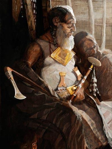 Artists reconstruction of the Bush Barrow chieftain
