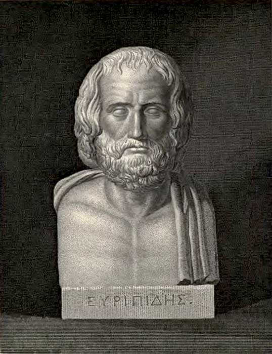 Bust of Euripides; frontispiece for 'The Plays of Euripides' (1910)