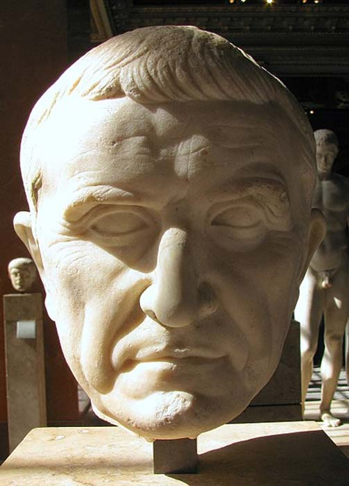 Bust of Marcus Licinius Crassus located in the Louvre, Paris. (Public Domain)