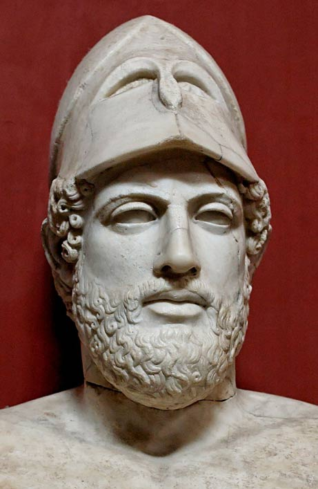 Bust of Pericles with a Corinthian helmet