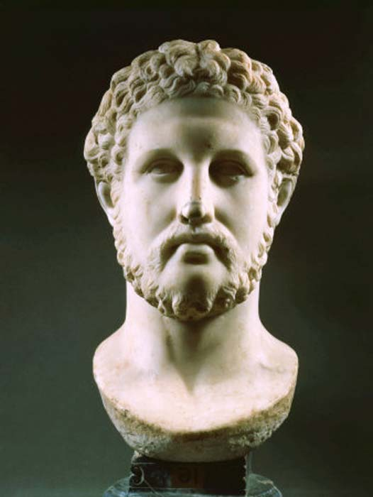 Bust of Philip II of Macedon, a 1st-century Roman-era copy of a Greek original.