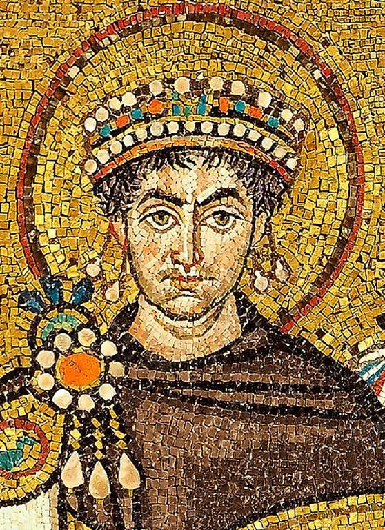Byzantine Emperor Justinian I.