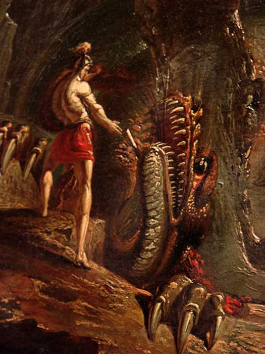 Cadmus and the Dragon by John Martin
