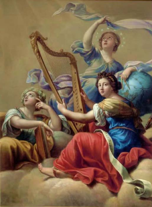 'Calliope, Urania and Terpsichore' (17th Century) by Pierre Mignard. (Public Domain)