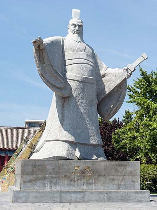 Cao Cao statue at the Government Office of Prime Minister Cao Cao