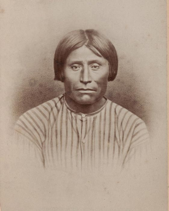 """A photograph of Captain Jack, a Modoc warrior who lead the resistance against the U.S. Army's invasion of Lava Beds."""
