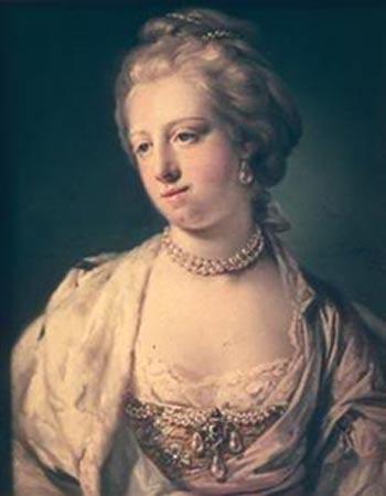 Painting of Caroline Matilda