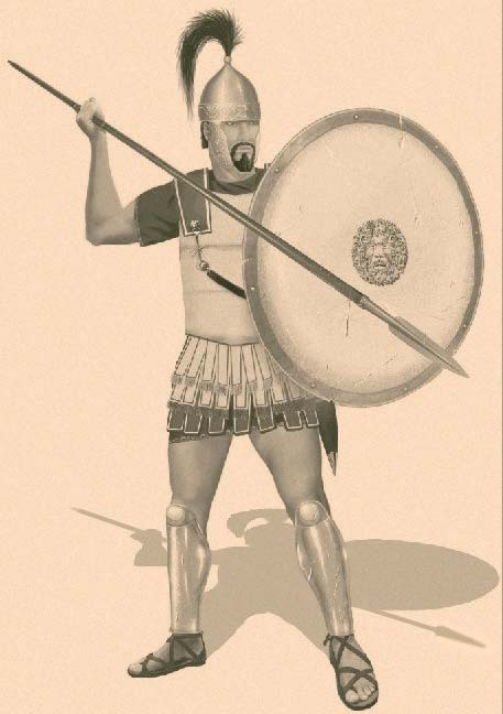 Carthaginian hoplite (Sacred Band, end of the 4th century BC)