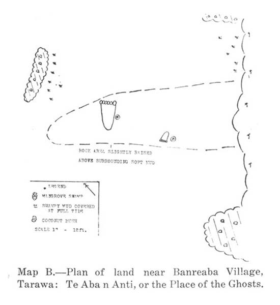 Carved Giant six-toed footprint, Island of Tarawa. (Source, The Footprints of Tarawa, I.G. Turbott, Colonial Administration Service, Volume 38, 1949.)