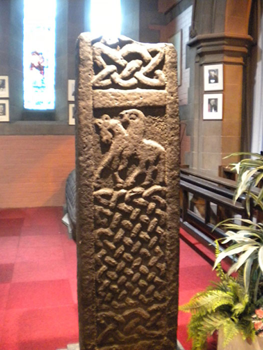 Carved cross in Govan Old Church. (CC BY-SA 3.0)