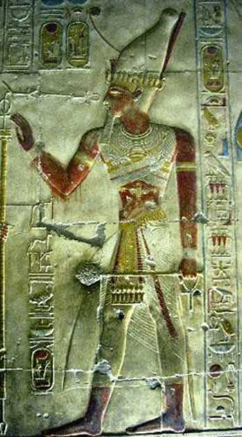 Carving of Seti I in the Temple of Seti, Abydos