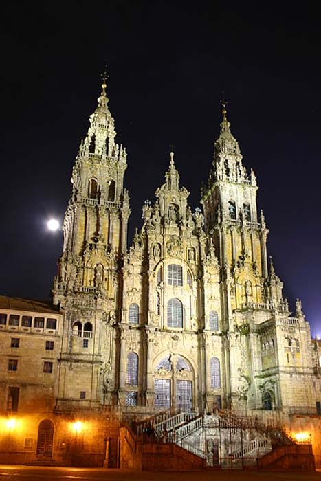 Cathedral at night.