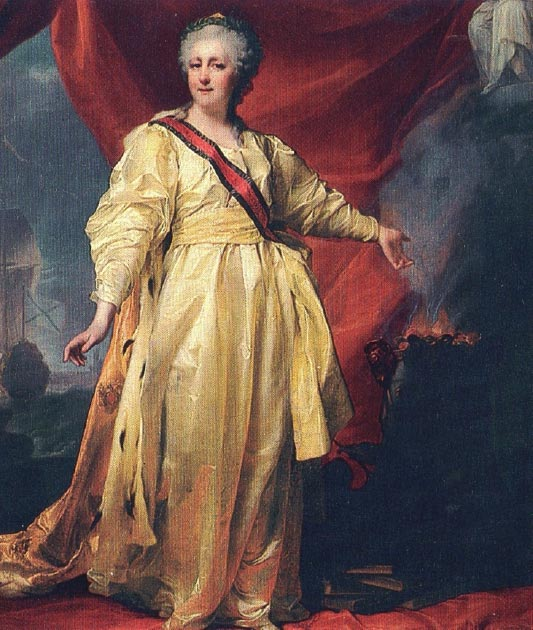 Catherine the Great came to power following a coup d'état that she organized—resulting in her husband, Peter III, being overthrown. (Magnus Manske / Public Domain)