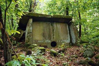 Caucasian dolmen center circle