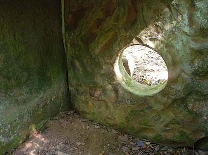 Caucasian dolmens with circle