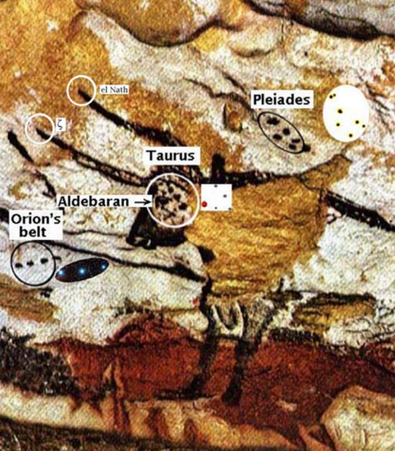 Cave painting featuring star maps, Lascaux, France.