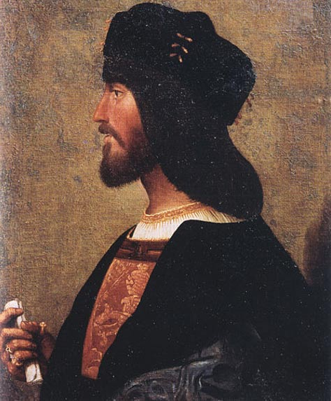 Cesare Borgia, the man who brought about Caterina Sforza's downfall.