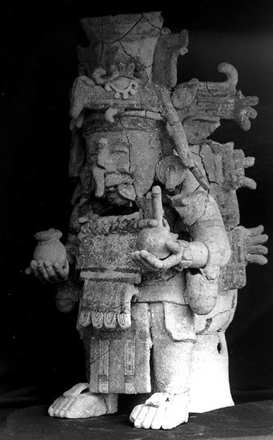 Chaac statue.