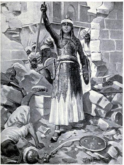 Chand Bibi defends Ahmadnagar in 1595. (Public Domain)