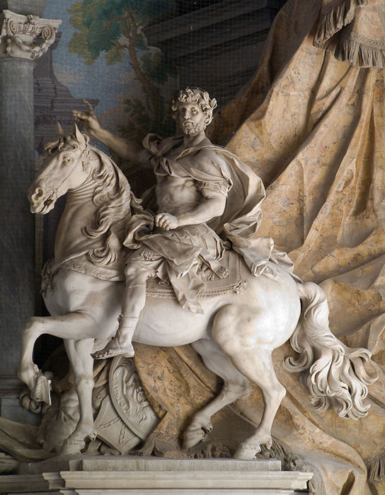 Statue of Charlemagne by Agostino Cornacchini (1725), St. Peter's Basilica, Vatican, Italy.