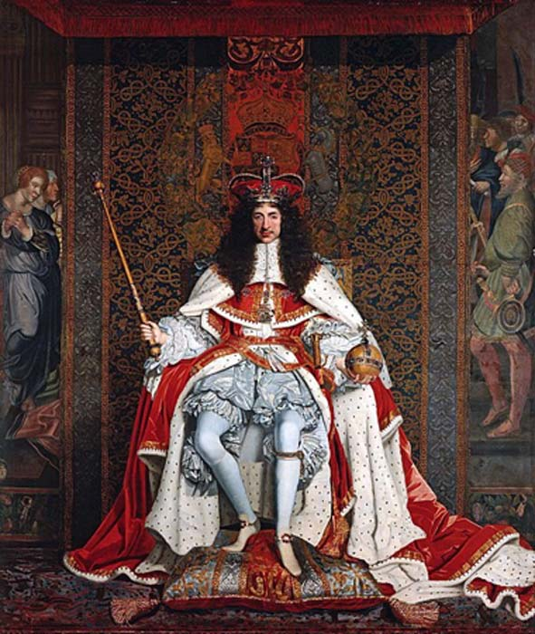'Charles II of England in Coronation robes' (1661-1662) by John Michael Wright. (Public Domain)