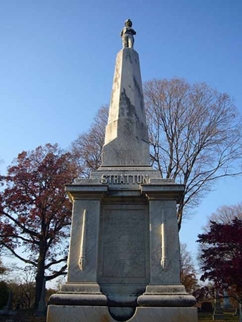Charles Sherwood Stratton's gravestone in Mountain Grove Cemetery, Bridgeport, CT USA. (Staib/CC BY SA 3.0)