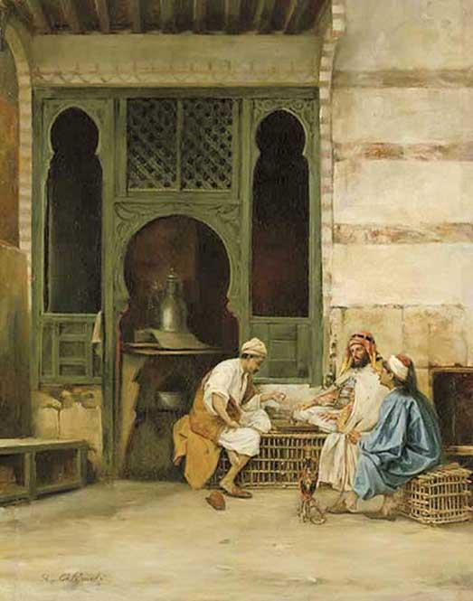 Chess Players, Cairo, by Stanisław Chlebowski (1835–1884)