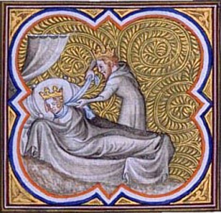 Chilperic strangling Galswinth Gallica Digital Library