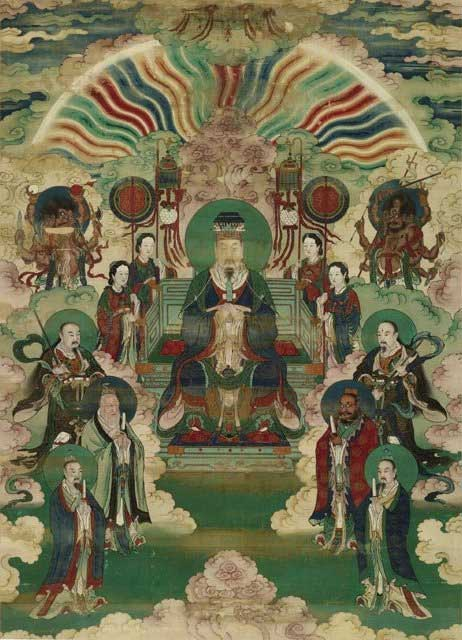 Chinese painting of Portraits of Jade Emperor and the Heavenly Kings