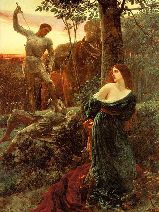 'Chivalry' (1885) by Frank Dicksee. (Public Domain)