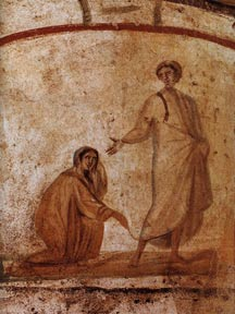 Christ healing a bleeding woman