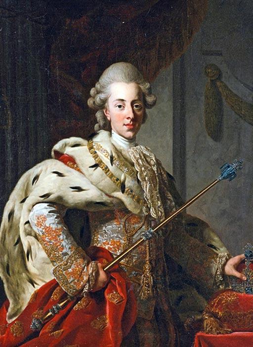 Christian VII, Portrait by Alexander Roslin,
