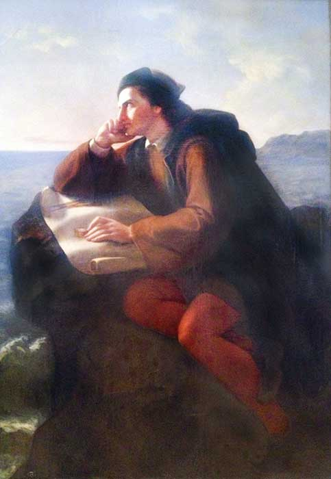 The Inspiration of Christopher Columbus by José María Obregón, 1856.