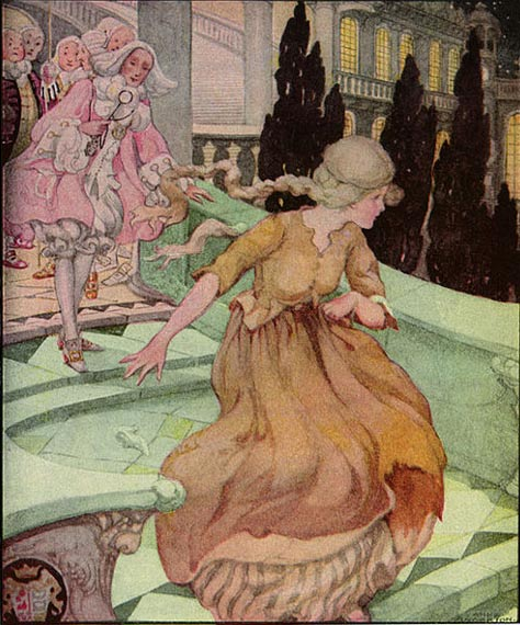 Illustration of Cinderella, A. Anderson