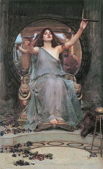 'Circe Offering the Cup to Odysseus' (1891) by John William Waterhouse. (Public Domain)