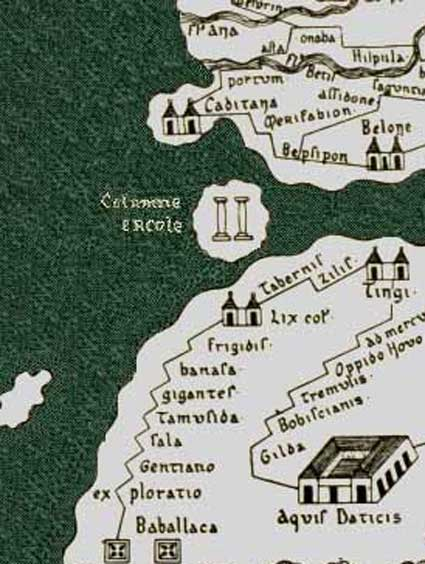 Cities of Roman Mauretania in the Tabula Peutingeriana.