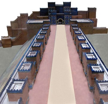 City model of the main procession street - Ishtar Gate Babylon