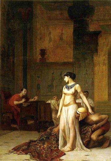 Cleopatra and Caesar (1866). Painting by Jean-Léon Gérôme