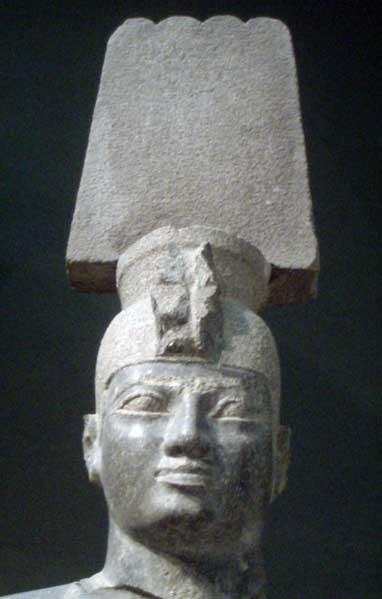 Close-up of the head of another statue of the Kushite pharaoh Aspelta, made during the Napatan period, circa 620-580 BC. (CC BY-SA 2.5)