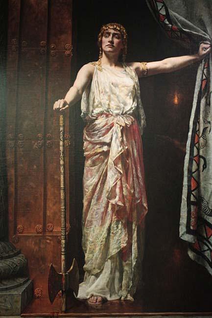 'Clytemnestra' (1882) by John Collier. (Stephencdickson/CC BY SA 4.0)