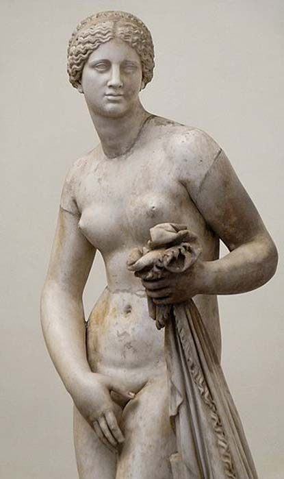 Cnidus Aphrodite. Marble, Roman copy after a Greek original of the 4th century.