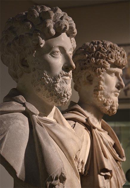 Co-emperors Marcus Aurelius and Lucius Verus, British Museum. (Carole Raddato / CC BY-SA 2.0)